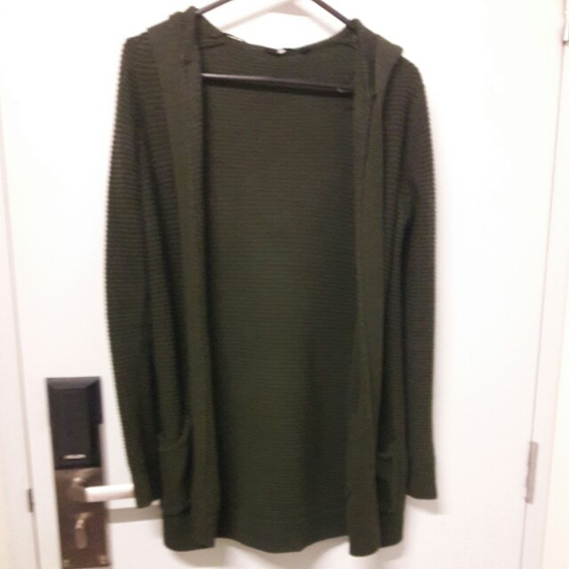 Jayjays Green Knitted Cardigan