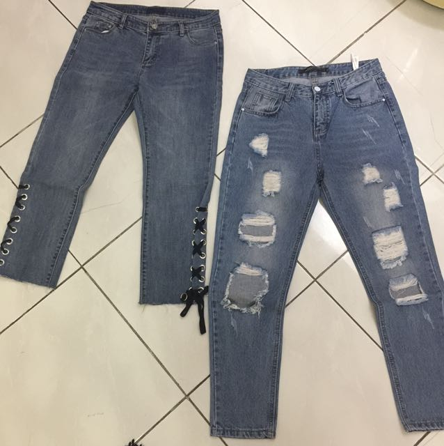 Jeans fit M each 135rb
