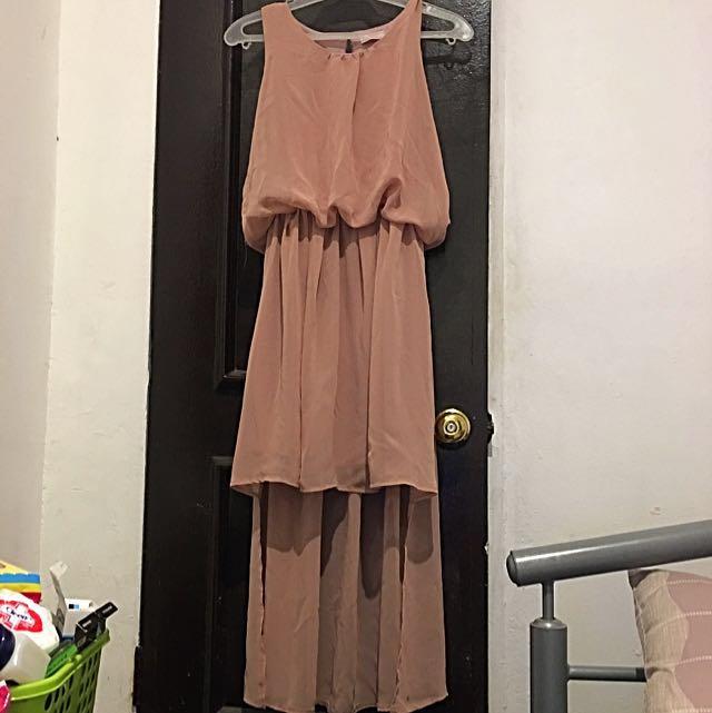 JELLYBEAN Long back Chiffon dress