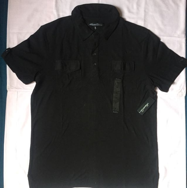 Kenneth Cole Black T Shirt with collar