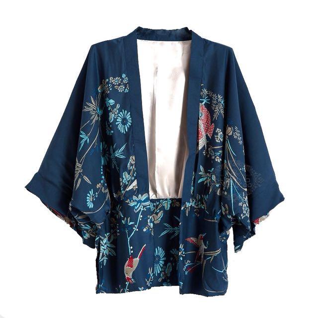 f2e95513f Kimono Cardigan, Women's Fashion, Clothes, Outerwear on Carousell