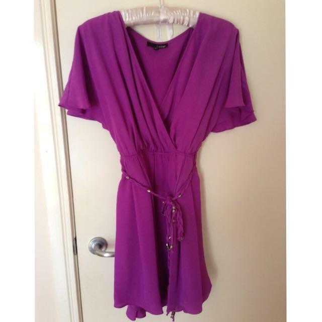 Ladakh Purple Wrap Dress