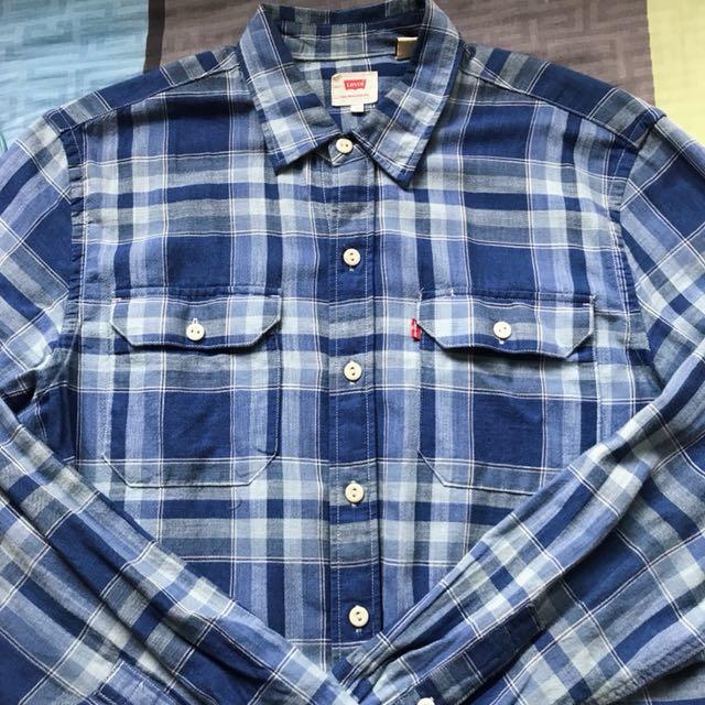 Levi's 襯衫 藍色格紋 M號