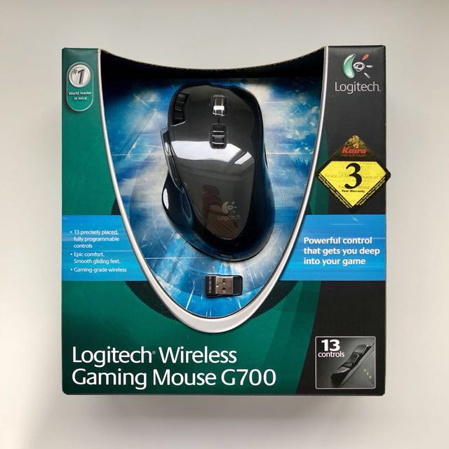Logitech G700 Wireless Gaming Mouse (13 Buttons Tilt Wheel ...