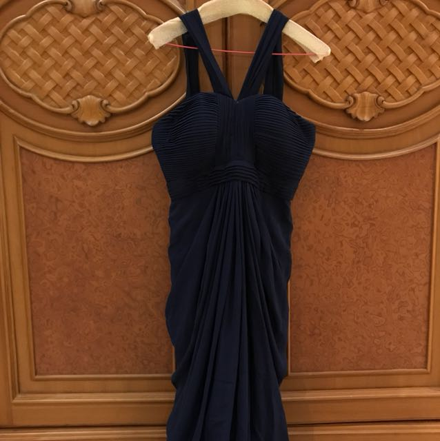Long dress dark blue