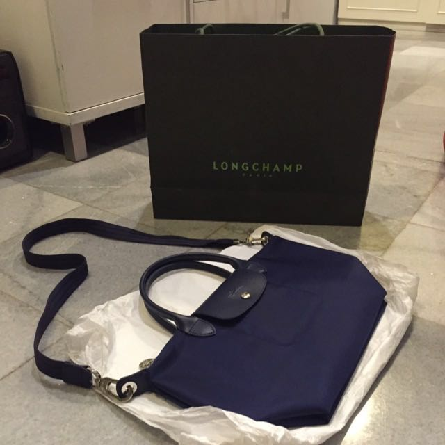 Longchamp Le Pliage Neo Navy Small