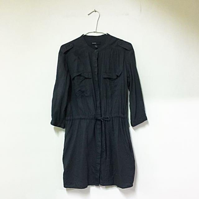Mango長版襯衫洋裝
