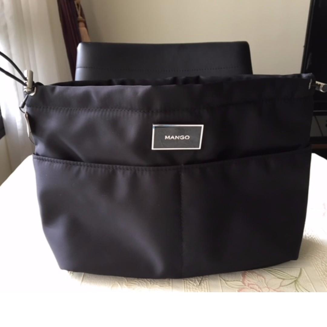 Mango Black Handbag Organiser New Item Original Product Tag