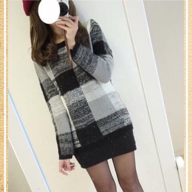 Miia 格紋窄裙洋裝