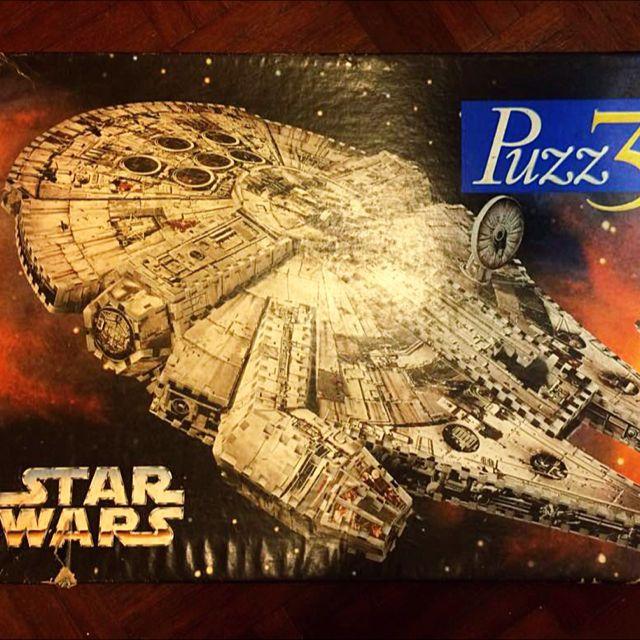 Milton Bradley STAR WAS Millennium Falcon Puzz-3D (857pcs) Jigsaw Puzzle