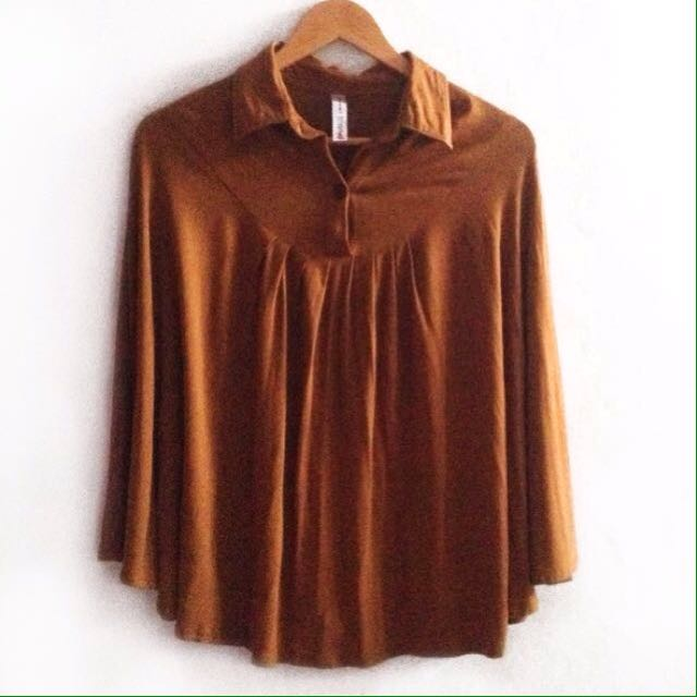•NEW• Camel Batwing Blouse