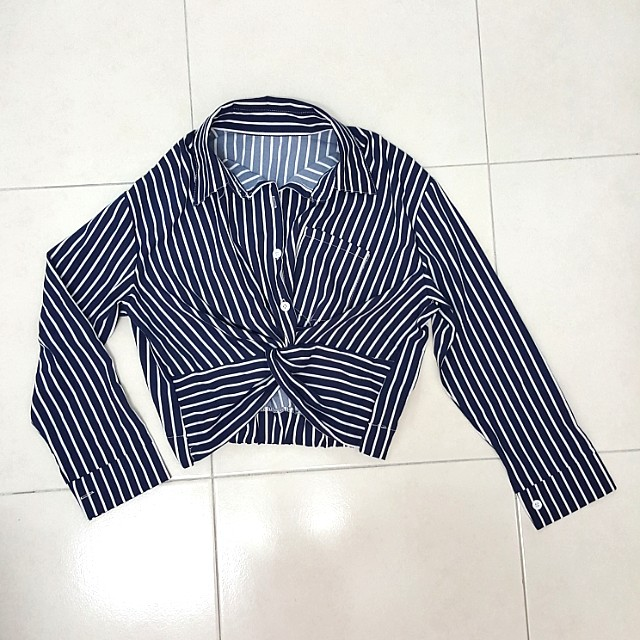 NEW Knotted Striped Shirt