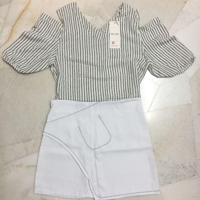 NEW Off Shoulder Blouse & Skirt