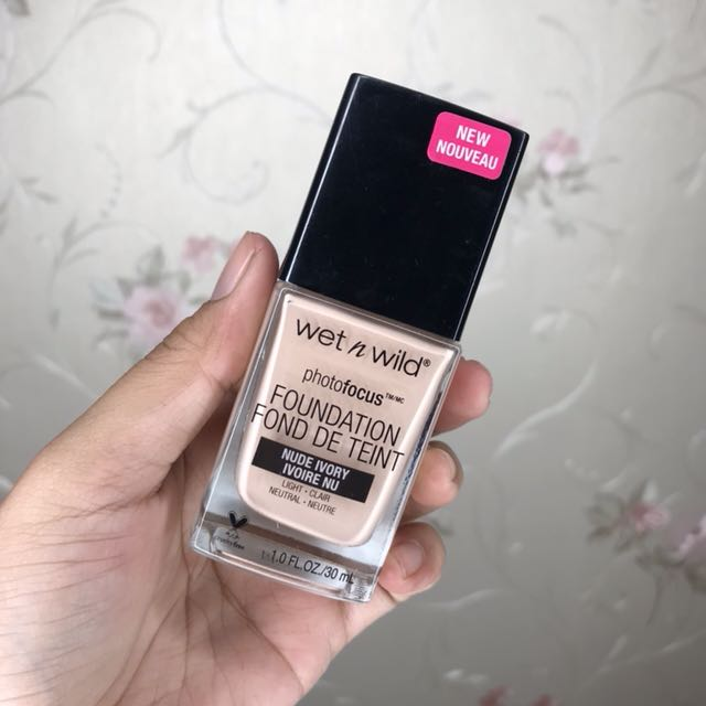 (NEW) Wet N Wild Photofocus Foundation - Nude Ivory