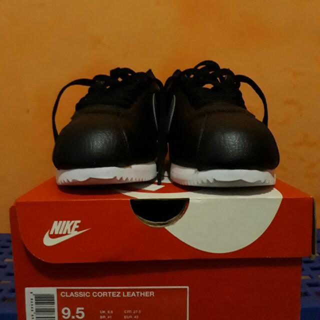 Nike Cortez Black Grey Leather