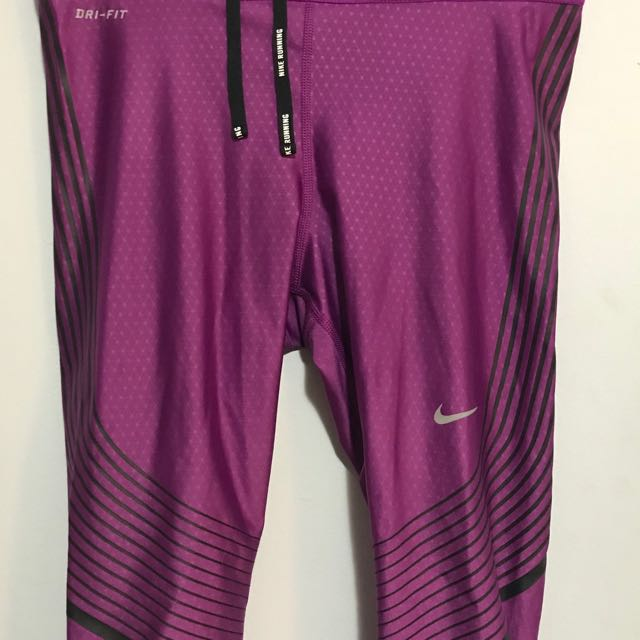 Nike dri-fit purple knee length leggings