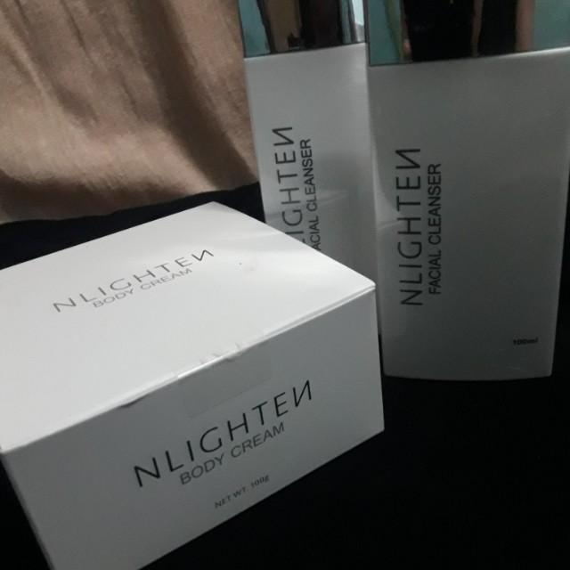 NLIGHTEN Body Cream & NLIGHTEN Facial Cleanser