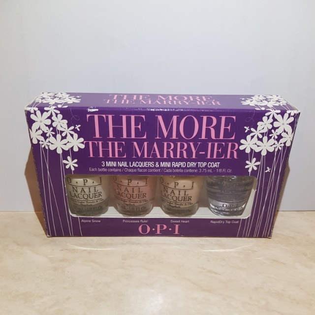 OPI The More The Marry-ier Petite Set