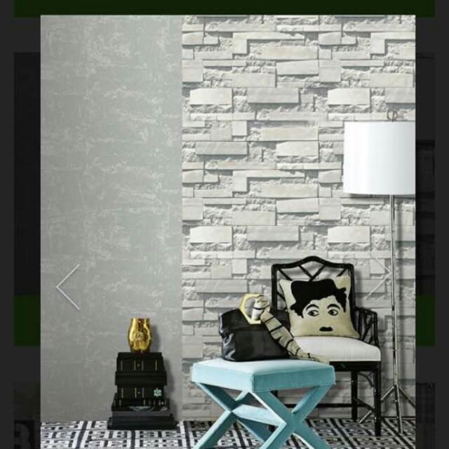Pemasangan wallpaper murah siap pasang, Home & Furniture, Home Décor on Carousell