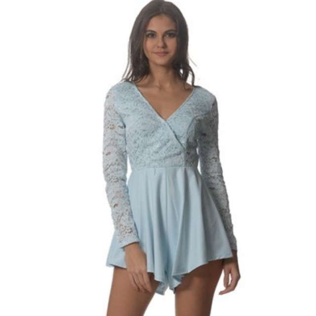 Peppermayo Baby Blue Playsuit