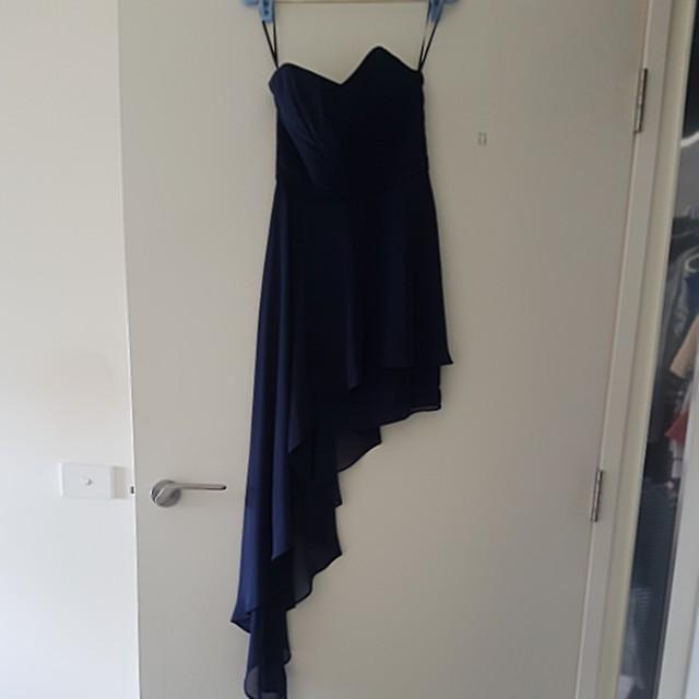 Pilgrim navy bridesmaid assumetry dress