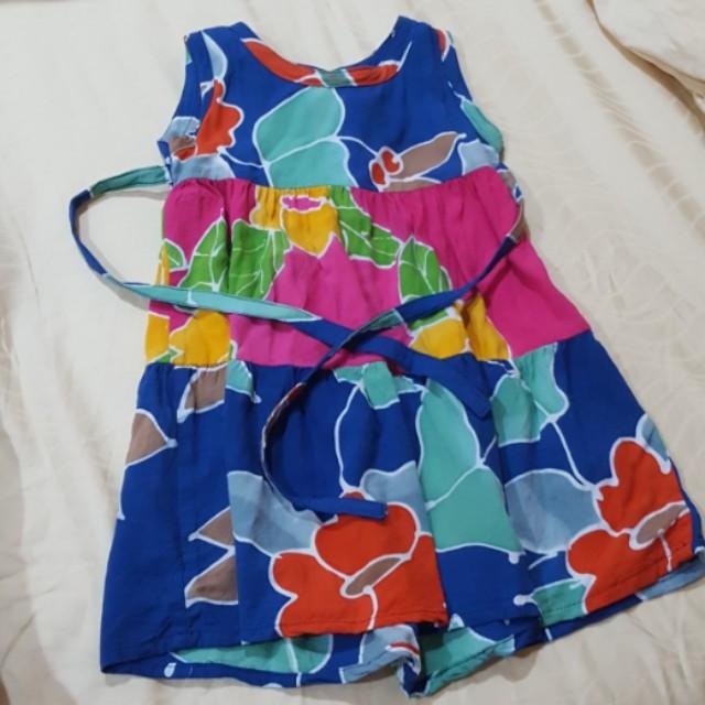 Pink & Blue batik dress