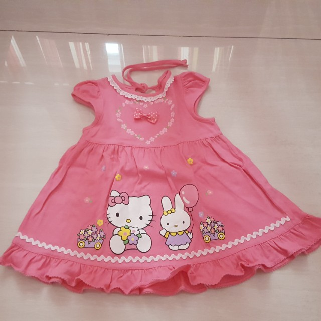 Pink Hello Kitty Dress 6-18m
