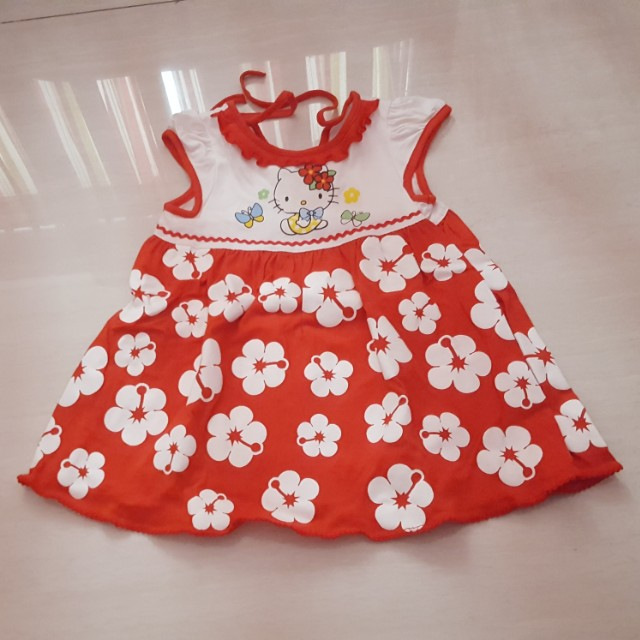 Red Hello Kitty dress 6-18m