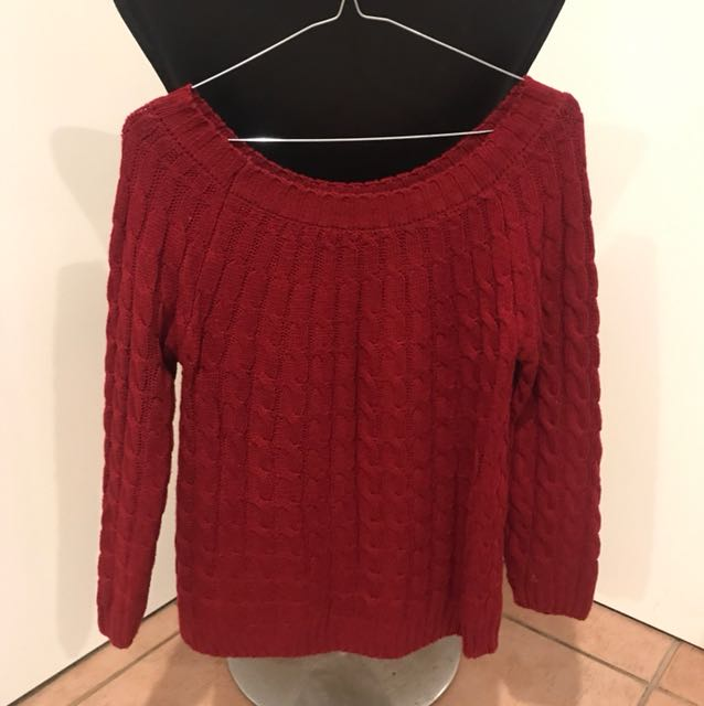 Red knit jumper size M