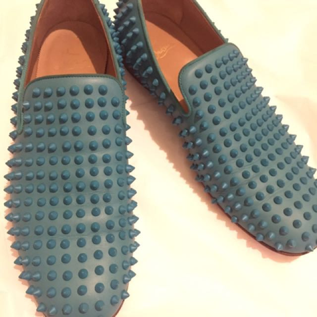 Reprice Authentic Christian Louboutin Dandelion Spikes Flat