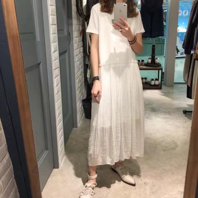Rococo 香港品牌 時尚 全白 圓領 短袖 連身裙 M號《全新商品現貨免運》#我的女裝可超取