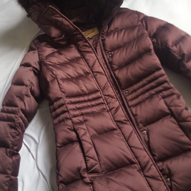 sachi burgundy winter coat