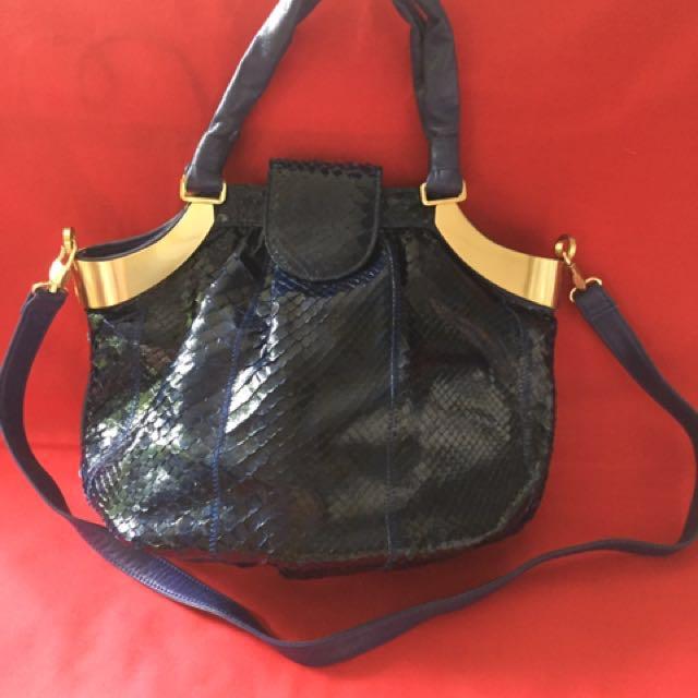 SALE!!! Genuine Python Skin Handbag