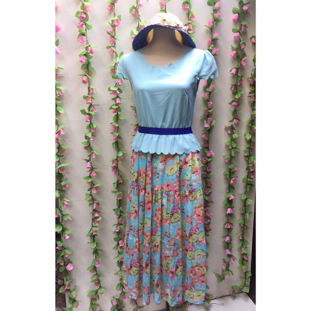 Scallop Maxi Dress