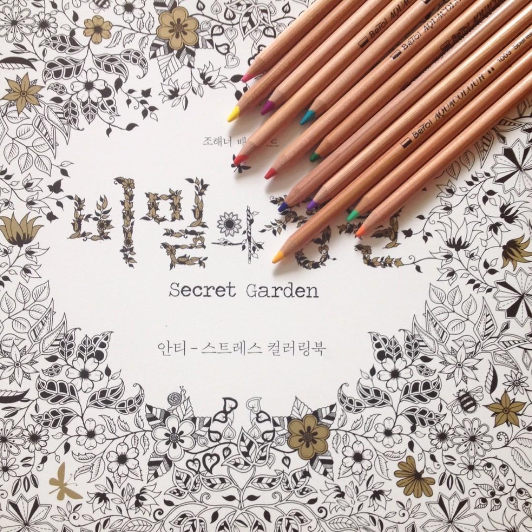Secret Garden Coloring Book Korean Design Craft Others On