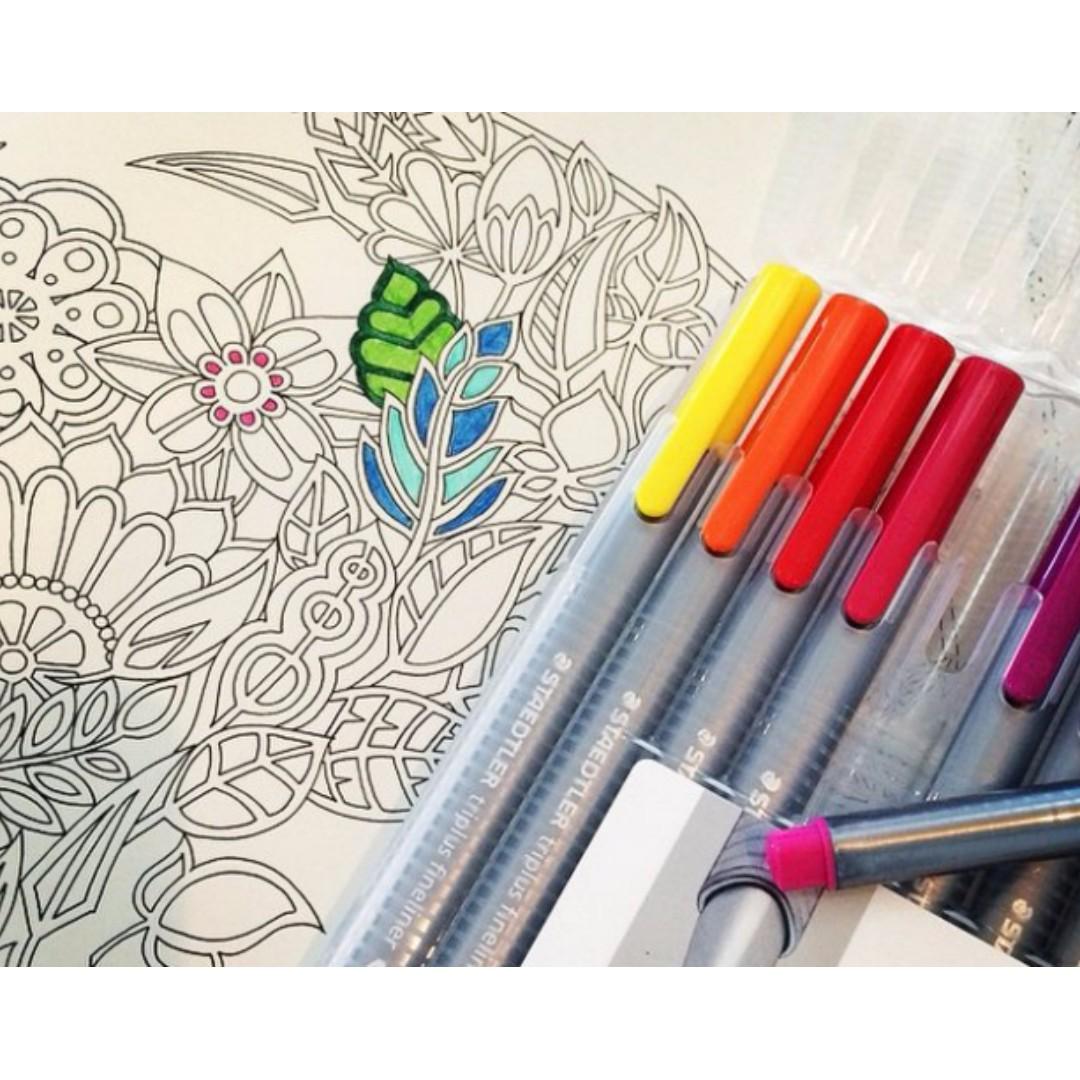Secret Garden Coloring Book Korean Design Craft Others On Carousell