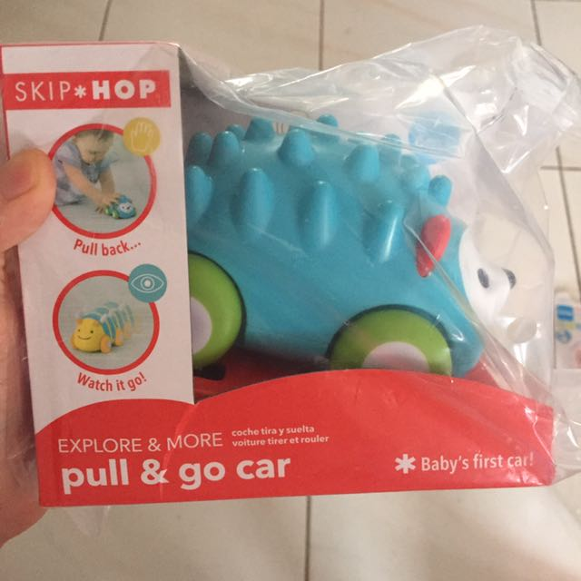 Hedgehog Skip Hop Explore and More Pull-and-Go Toy Car
