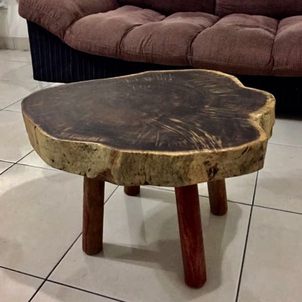 Solid Wood Slab Coffee Table Home Furniture Furniture On Carousell