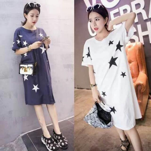 🐊Star cotton dress