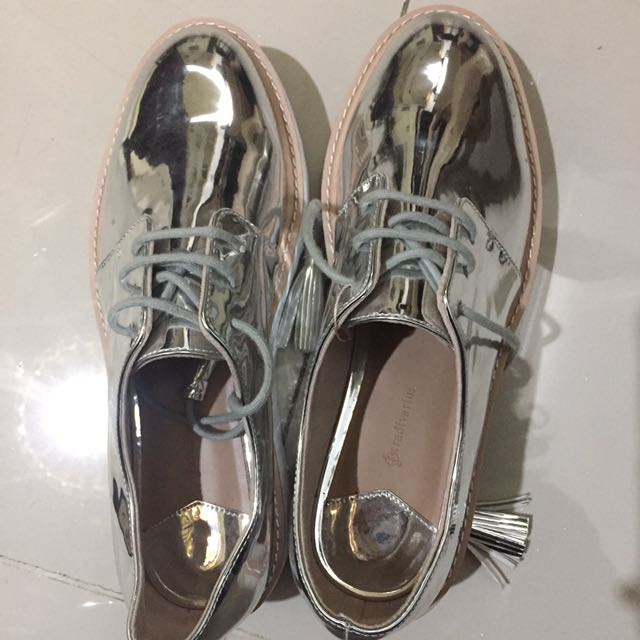 Stradivarius Silver Shoes