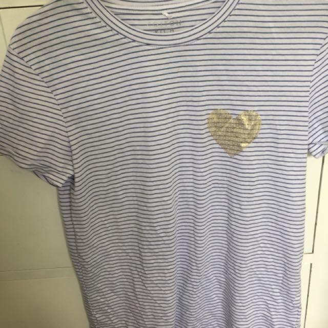 Striped heart shirt