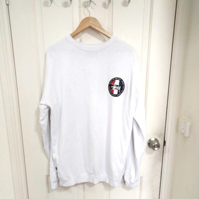 STUSSY White Sweatshirt - Size M
