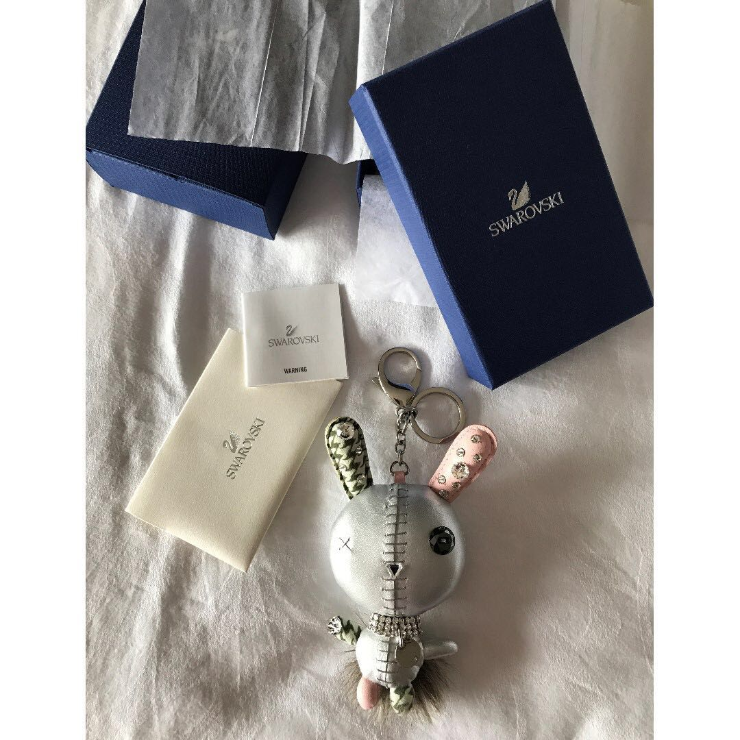 64d5a40d89f Swarovski Mathilde Rabbit Silver Bag Charm (Excellent Condition ...