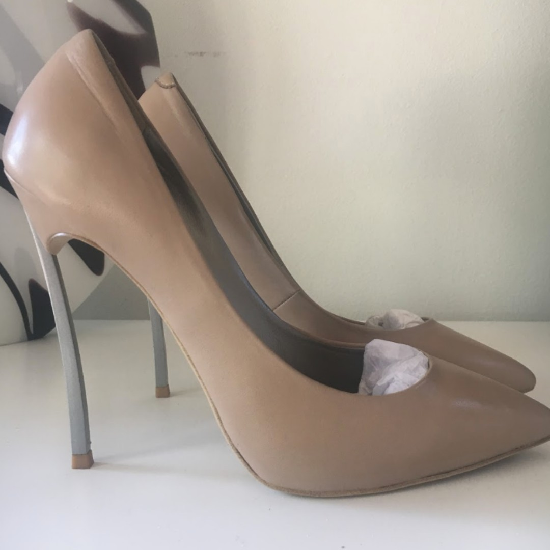 Tony Bianco Lolita Heels Size 8 Nude Capretto Leather