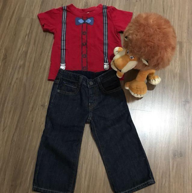 Top + long jeans set