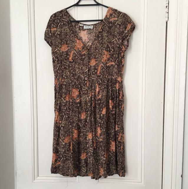 Tree of life - rayon dress