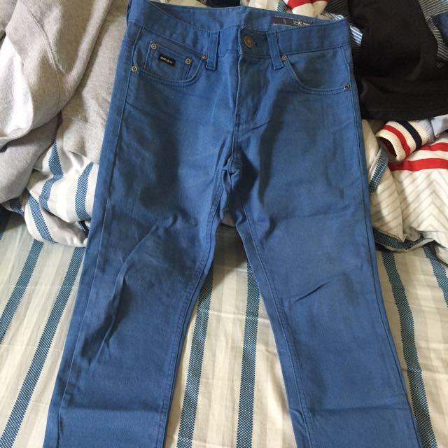Upset休閒褲 藍窄版