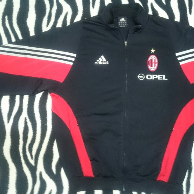 new styles bf485 d3e2b VINTAGE ADIDAS AC MILAN 2003 TRAINING TRACK TOP SWEATER