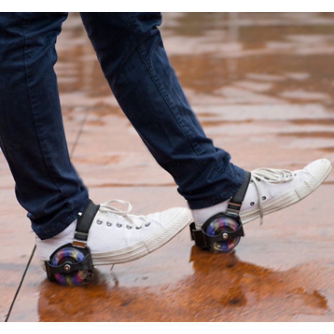 Wheels on shoes