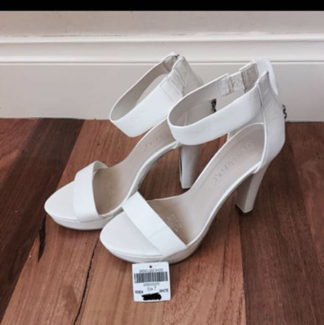 WILDFIRE white heels